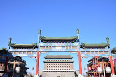 The ancient architecture of the front door of Beijing Stock Photography