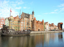 Ancient architecture of Gdansk. Stock Photos