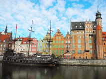 Ancient architecture of Gdansk. Stock Photo