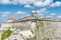 Ancient architecture in Habana, Cuba.  Royalty Free Stock Photography
