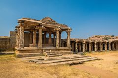 Ancient Hampi ruins Royalty Free Stock Photography