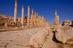 Ancient architecture in Jerash Royalty Free Stock Images