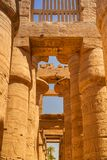 Ancient architecture of Karnak temple in Egypt stock photography