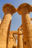 Ancient architecture of Karnak temple in Egypt stock photo