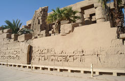 Ancient architecture of Karnak temple in Luxor Stock Photo