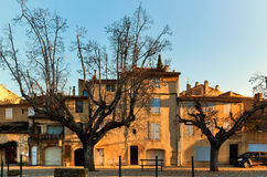 Ancient architecture of Lourmarin. France. Ancient architecture of Lourmarin. Listed as the most beautiful villages of France. Provence-Alpes-Cote d`Azur Royalty Free Stock Image