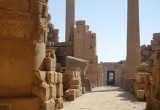 Ancient architecture in Luxor, Egypt stock image