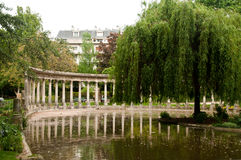 Ancient architecture in Monceau Park Royalty Free Stock Photography