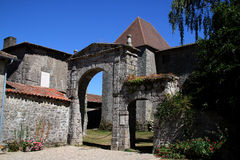 Ancient Architecture, Mortemart, France Stock Image