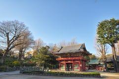Ancient architecture of Nezu shrine, Japan royalty free stock image