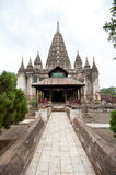 Ancient architecture of old Buddhist Temples at Bagan Kingdom, M Royalty Free Stock Photography