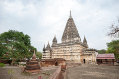 Ancient architecture of old Buddhist Temples at Bagan Kingdom, M Royalty Free Stock Images