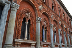 Ancient architecture, old church building, Milan, Italy.  Royalty Free Stock Photography
