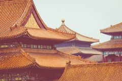 Ancient architecture of the palaces complex in the Forbidden Cit. Y, Beijing, China Stock Images