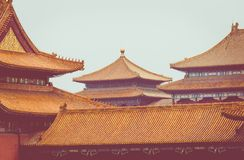 Ancient architecture of the palaces complex in the Forbidden Cit. Y, Beijing, China Royalty Free Stock Images