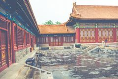 Ancient architecture of the palaces complex in the Forbidden Cit. Y, Beijing, China Royalty Free Stock Photo