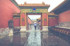 Ancient architecture of the palaces complex in the Forbidden Cit. Y, Beijing, China Stock Photography