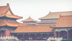 Ancient architecture of the palaces complex in the Forbidden Cit. Y, Beijing, China Royalty Free Stock Image