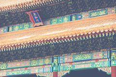 Ancient architecture of the palaces complex in the Forbidden Cit. Y, Beijing, China Royalty Free Stock Photos