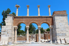 Ruins of st. Johns Basilica at Ayasuluk Hill in Turkey Stock Photography