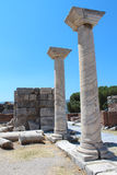 Ruins of st. Johns Basilica at Ayasuluk Hill in Turkey Royalty Free Stock Images