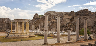 Ancient architecture in Side Turkey Royalty Free Stock Photos