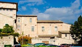 Ancient Architecture of Spello in Umbria Stock Images