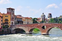 Ancient architecture of Verona Stock Photography