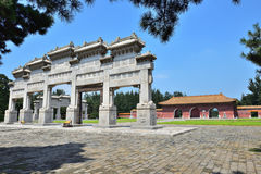 Ancient architecture. The ancient architecture of Western Tombs of the Qing Emperors,Hebei Province, China Stock Photography