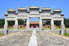 Ancient architecture. The ancient architecture of Western Tombs of the Qing Emperors,Hebei Province, China Stock Image