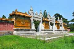 Ancient architecture. The ancient architecture of Western Tombs of the Qing Emperors,Hebei Province, China Stock Photo