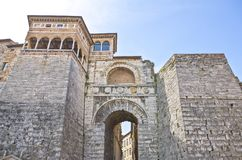 The ancient architectures of Perugia. Italy,Umbria,Perugia,the Etruscan Arch Royalty Free Stock Photos