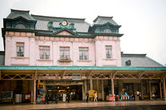Ancient architecure  of Mojiko train station, Japan Stock Images