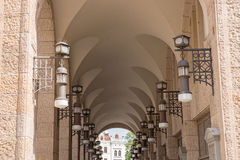 Ancient archway in the beautiful town Goerlitz Stock Images