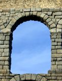 Ancient Archway in Roman Aqueduct Ruins. Ancient archway in the ruins of the Roman Aqueducts royalty free stock photos