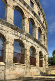 Ancient arena. In Pula, Croatia Stock Photo