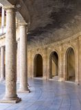 Ancient arena in the Alhambra Palace in Spain Stock Photo
