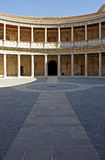 Ancient arena in the Alhambra Palace in Spain Royalty Free Stock Photos