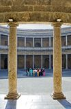 Ancient arena in the Alhambra Palace in Spain Stock Images
