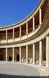 Ancient arena in the Alhambra Palace in Spain royalty free stock photography