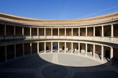 Ancient arena in the Alhambra Palace in Spain Stock Photography