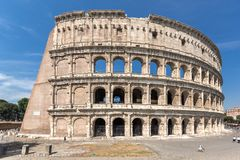 Ancient arena of gladiator Colosseum in city of Rome, Italy. ROME, ITALY - JUNE 24, 2017:  Ancient arena of gladiator Colosseum in city of Rome, Italy Stock Photography