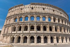 Ancient arena of gladiator Colosseum in city of Rome, Italy Royalty Free Stock Images