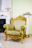 Ancient armchair Royalty Free Stock Images