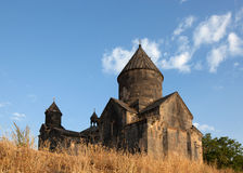 The ancient Armenian church on background Royalty Free Stock Photography