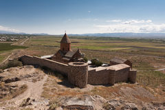 Ancient Armenian church Khor Virap Royalty Free Stock Image