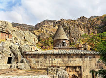 Ancient armenian church. Wall and dome of the ancient armenian temple Stock Images