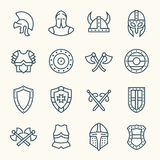 Ancient armor icons Stock Photo