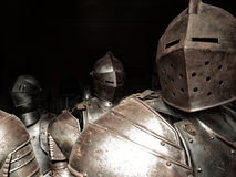 Ancient armor of knights Royalty Free Stock Image