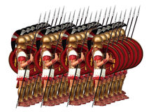 Ancient army. Of greek warriors isolated Stock Image
